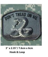 Wholesale Army Acu Bags - DON'T TREAD ON ME ARMY TEA PARTY SNAKE ISAF ACU MILSPEC MORALE Hook & Loop Patch badge for clothing cap bags hat