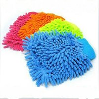 Wholesale Vehicle Cleaning Brushes - Wholesale-Car Microfiber Vehicle Auto Cleaning Glove Wash Mitten Cloth Washing Mitt Brush PINK BLUE Color Gloves