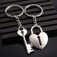 Wholesale Wedding Ring Souvenirs - Hot Novelty Couple Keychain Women Lovers Heart Key Chain Ring Llaveros Trinket Jewelry Valentine's Day Souvenirs Wedding Gift