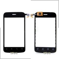 замена панели iphone оптовых-Wholesale- Touch screen Digitizer front glass replacement for  IQ245 Touchscreen Sensor digitizer panel outer glass with flex cable