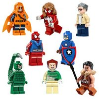 Wholesale bricks minifigures The Amazing Spiderman Spider Woman SDCC Azazel Kraven Scorpion Stan Small Action Figure Building Block toy Set Pogo PG801