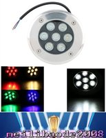 LED RVB Lumière souterraine 7W LED Buried Lighting Projecteur RGB 16 Couleur Changement Mur Rondelle 6pcs 85-265V 24V Garantie MYY