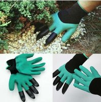 Wholesale High quality Latex Garden Gloves for Digging Planting with ABS Plastic Claws gardening gloves
