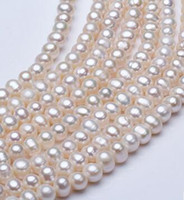 Wholesale Circle Punches - Manufacturer direct selling fresh water pearl 9-10mm semi-finished women's necklace white punch 37mm