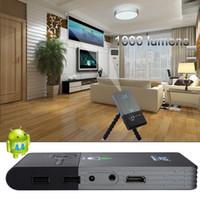 Wholesale Mini Hdmi 5m - Wholesale-1000 Lumens dlp Pocket Projector C2 Mini PC 1920x1080 Full HD LED Projector Distance1-5M WIFI Bluetooth Projector PK unic uc46
