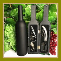 Wholesale red kitchen tools set - Red Wine Corkscrew 5 Pcs In One Set Kitchen Tools Multi Function Bottle Opener Creative Gift 16 8fh C R