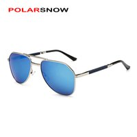 Wholesale- POLARSNOW Foldable Mens Sunglasses Polarized Lens Top Quality Мужские солнцезащитные очки для вождения Vintage Eyewear Accessories