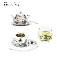 Wholesale Teapot Shape Tea Strainer - Hot Sale High Quality Food Safety Stainless Steel Tea Infuser with Key Chain Durable Mini Teapot Shape Tea Strainer Tea Accessories