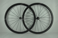 Wholesale Unicycle 26 - 700C 38mm T800 carbon fiber bike wheels+ with Novatec or Powerway hub type clincher tubular