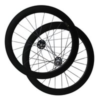 Fix Gear Wheels Full Carbon 60 mm Tubular 3K Matte Carbon Wheelset pour vélo de piste A165SBT / A166SBT Hub