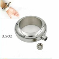 Wholesale Bangle Bracelet Hip Flask Grade Stainless Steel High Quality Mirror Whiskey Drinkware and Funnel Set YYA129