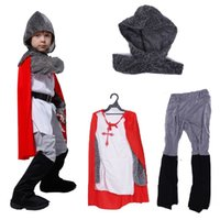Wholesale Knight Costume Children - Shanghai Story Crusader Knight Warrior medieval Halloween Carnival Party fantasy Costume for kids,Child' anime Cosplay fantasia fancy CLoth