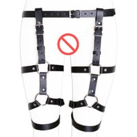 Wholesale Hot Sex Waist - Hot Erotic Thigh Loop Harness Belts Leather Body Bondage Waist Cincher Straps Open Crotch Fetish Panties BDSM Costume Sex Toys
