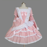 Wholesale Dreams Real - Palace Wind Trumpet Sleeve Lace Lotus Leaf Prom Dream Elegant Princess Long Sleeve Dresses Gothic Lolita Simple Gowns 2018 Real Photo