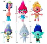 Magic Hair Cooper Poppy DJ Suki Harper Guy Diamond Branch Bonecas recheadas The Good Luck Trolls Gifts