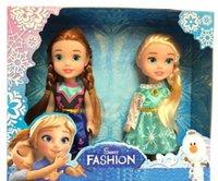 Wholesale Display Birthday Toys - 2 pcs set , Baby Toys Mini Doll 16cm Elsa and Anna Cartoon Figure Kelly Dolls Brinquedos boneca for Display Girls Birthday Gift