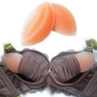 gel-pad-pakete großhandel-Silikon-BH-Gel unsichtbare Einlagen Pads drücken Enhancer Breast 100pairs / Lot Retail Box Package