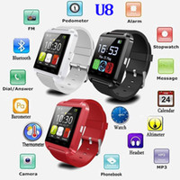 Wholesale Cheap Bluetooth Camera For Android - Cheap Sport Wristband U8 Smart Watch New Bluetooth U8 Rechargeable Smartwatches for IOS for Andriod mobile