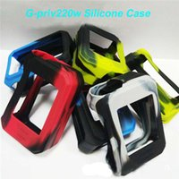 Wholesale Colorful Shipping Boxes - Smok G-PRIV 220W Silicon Case G-Priv Skin Cases Colorful Soft Silicone Sleeve Cover Skin For Smoktech G-PRIV 220 Box Mod Free Shipping