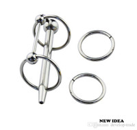 Wholesale Male Urethral Bondage Sex Toy - A013New Urethral Stainless steel TUBE Dilatator MALE Adult Products Fetish Bondage GAY Sex Toys