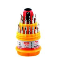 magnetischer handy-schraubendreher-set großhandel-120set / lot * (6036B) 31 in 1 Satz Micro Pocket Precision Schraubendreher Kit Torx Magnetic Screwdriver Handy Werkzeug Reparatur Box Kit
