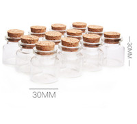 Wholesale Jars Cork Lids - Wholesale 500pcs lot 10ml Small Glass Bottle Jars with Cork Lid ,10cc clear glass vial