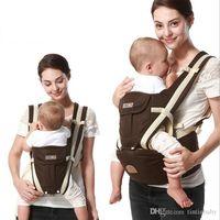 tirantes de mochila al por mayor-2017 Nueva mochila ergonómica portador de bebé multifunción transpirable Mochilas portabebés cochecito de niño pequeño enrollador de tirantes + asiento
