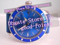 Wholesale Superocean Strap - Top Brand Men's Automatic Watch Blue Dial Heritage Chronometer Date Rubber Strap Watches Men Sport Superocean 1884 Divers Wristwatches