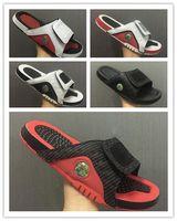 Wholesale Sport Shoe Novelty - Air Retro 13 Mesh Bred Slide Sandals mens Slipper 13S slides BLACK white Red Scuffs outdoor & indoor Flip Flops men sandal shoes size 40-46