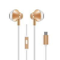 Wholesale cell phone plug types resale online - 2017 New Type C Earphones VT Earphone Pro HiFi Chip Inbedded Continual Digital Lossless Audio USB To Type C Plug Fast Power Adapte
