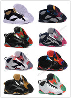 Wholesale Purple Tourmaline - 2017 Cheap New Retro 7 VII True Red-Silver-Tourmaline 304775-125 mens Basketball Shoes For Men retro Dan 7s Sneaker Sport Shoe US 8-13