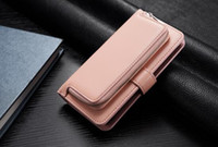 Wholesale Zip Clip Case - Multi-function Zip Zipper PU Leather Wallet Case With Card Pouch 2 in1 Removable leather Cover Cases For Samsung S8 S8Plus