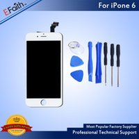 Wholesale Digitizer Iphone Tool White - For iPhone 6 White LCD Display With Touch Screen Digitizer Complete 4.7 inch LCD & Open Tools