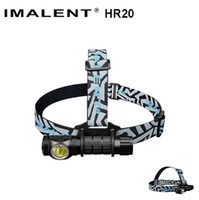 Wholesale Headlamp Charge - IMALENT HR20 Cree XP-L Flashlight Touch 1000lm Led Headlamp w USB Charging Port Tactical Headlight by 18650 Battery Self Defense