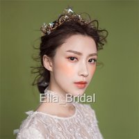 Wholesale Ella Wedding - Romantic Crystal Star Bridal Crown Tiara Unique New Fashion Wedding Party Hair Accessory Ceremony Headwear Hairband Free Shipping Ella Style