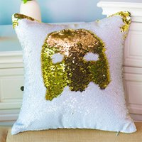 Wholesale New Hotel Knitting - New hot discoloration DIY sequins pillow cases two-color mermaid Pillow Case 50PCS SEND
