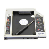 Wholesale Pata Sata Hard Drive - Wholesale- New Universal 12.7mm PATA IDE to 2nd SATA HDD Hard Drive Disk Caddy Module