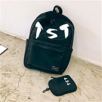üniversite için moda sırt çantaları toptan satış-Moda Öğrenci Paketi Sırt Çantası Yaz New College Rüzgar Kadın Çantaları Genç Okul Tide Rüzgar Tuval Kadın kişilik Sırt Stil # 2123