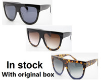 Wholesale retail eye shadow resale online - Hot sales Brand Designer Audrey Shadow FU9DV Top quality women sunglasses color With Retail cases and box