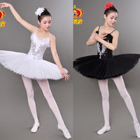 Wholesale Girls Yellow Ballet Costume - Swan Lake Ballet Costumes Adult Professional Platter Tutu Ballet Dress For Girls Women Classical Ballet Tutu Dancewear