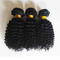 işlenmemiş saç toptan satış-Brezilyalı Remy İnsan saç atkı kıvırcık dalgalar Malezya Hint saç Doğal siyah işlenmemiş Afro-Amerikan saç Miktarı daha uygundur