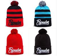 kürk top şapka toptan satış-POPÜLER sevimli kürk topu Kasketleri şapkalar sonbahar kış örme yün şapka moda hip hop hip-hop şapka kap açık şapka kayak kap sıcak şapkalar