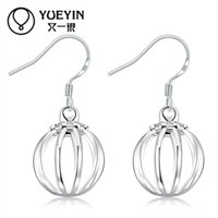 Wholesale Special Shape - Hollow Out Lantern Drop Earrings Silver plated special hollow out lantern shaped drop earrings for women girl gift party fashion jewelry