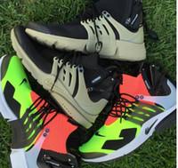 Wholesale Eur Size 46 - 2017 new hot sale Acronym Air Presto MID White Black Hot Lava running shoes for men sports shoes , size Eur 40-46