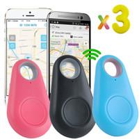 buscador de teléfonos gps al por mayor-2017 Mini GPS Tracker Bluetooth Buscador de llaves Alarma 8g Buscador de artículos bidireccional para niños, mascotas, ancianos, carteras, automóviles, paquete minorista de teléfonos