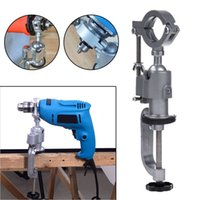 Wholesale Universal Drill Grinder - Universal Clamp-on Bench Vises Holder Mini 360 Rotating Electric Drill Stand Make the Grinder Flat for Woodworking