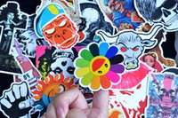 100pcs Random Style Stickers Skate Snowboard Vintage Vinyl Sticker Graffiti Laptop Bagagem Carro Bicicleta Decalques de bicicleta Mix Lot Fashion Cool
