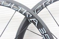 Wholesale Carbon Fibre Bike Wheels - more color can choise 100% Carbon fiber Bicycle wheelset 38mm clincher carbon wheels tubular 700C Matte finish with powerway R36 carbon hubs