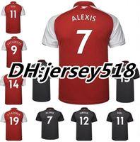 Wholesale Alexis Sanchez - 2017 2018 Soccer Jersey ARSENL sanchez OZIL ALEXIS RAMSEY WALCOTT WILSHERE 17 18 GIROUD LACAZETTE XHAKA GIROUD Football Shirts