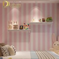 Wholesale Cozy Pink Blue White Striped Wallpaper Vinyl Waterproof Modern Home Decor PVC Minimalist Living room Wall paper Design R555